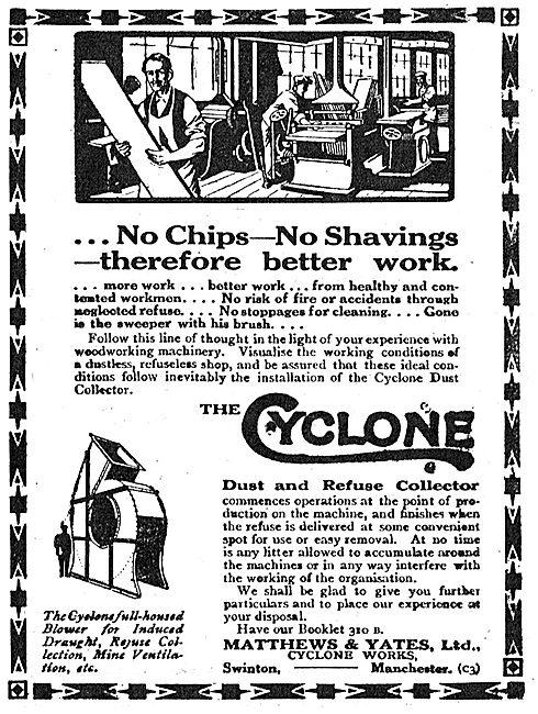 Matthews & Yates - Cyclone Factory Ventilation Blower. 1918