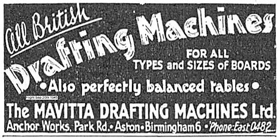 Mavitta All British Drafting Machines