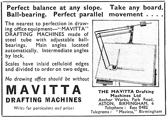 Mavitta Drafting Machines 1947