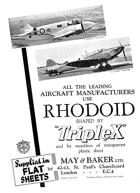 May & Baker Rhodoid Acetate Tranparencies