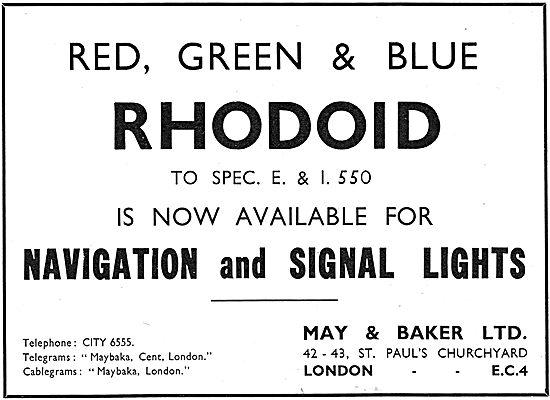 May & Baker Rhodoid Acetate Tranparencies