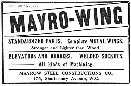 Mayrow-Wing. Manufacturers Of Aircraft Parts 1915