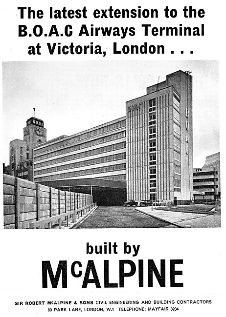 Sir Robert McAlpine. B.O.A.C Terminal Extension 1965