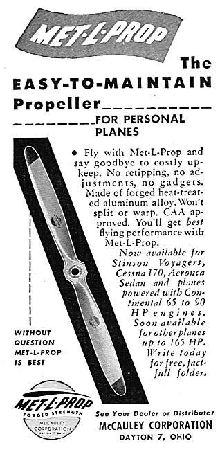 McCauley Propellers - McCauley Met-L-Prop Propellers