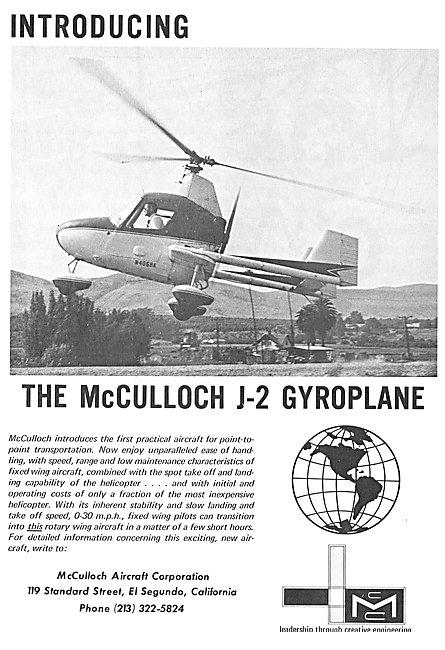 McCulloch J-2 Gyroplane