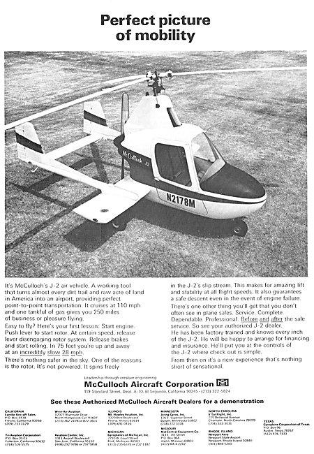 McCulloch J-2 Gyroplane N2178M