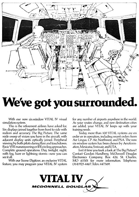 McDonnell Douglas Vital IV Flight Simulation System