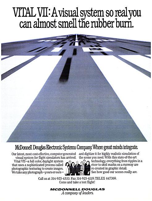 McDonnell Douglas VITAL VII Flight Simulator Graphics 1990