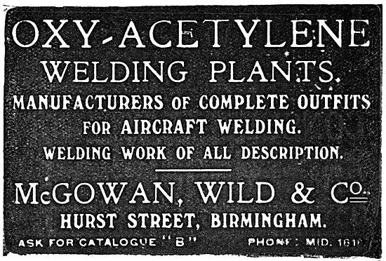 McGowan, Wild & Co - Welding Plants & Equipment