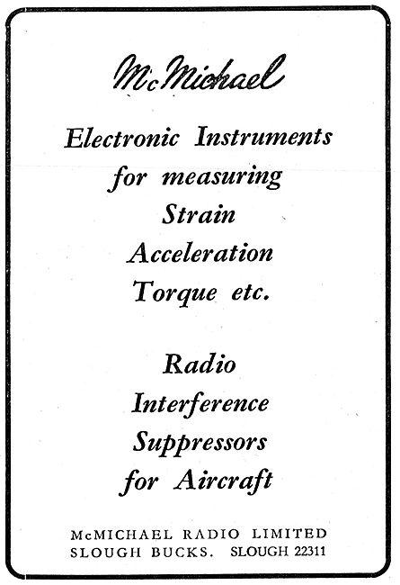 McMichael Electronic Measurement  Instruments  Strain Torque etc