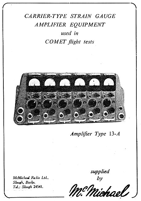 McMichael Electronic Carrier-Type Strain Gauge Amplifier