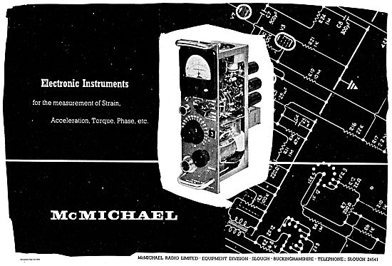McMichael Electronic Instruments For Measuring Torque, Phase Etc