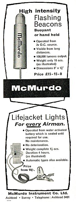 McMurdo Lifejacket Lights For Every Airman 18/-