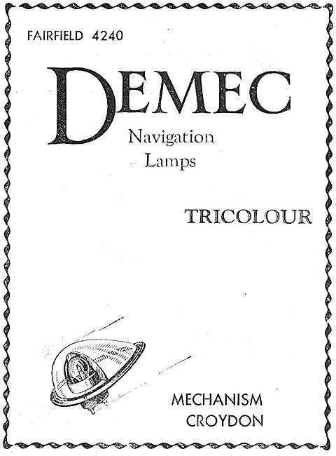 Demec Aircraft Navigation Lamps - Mechanism Croydon
