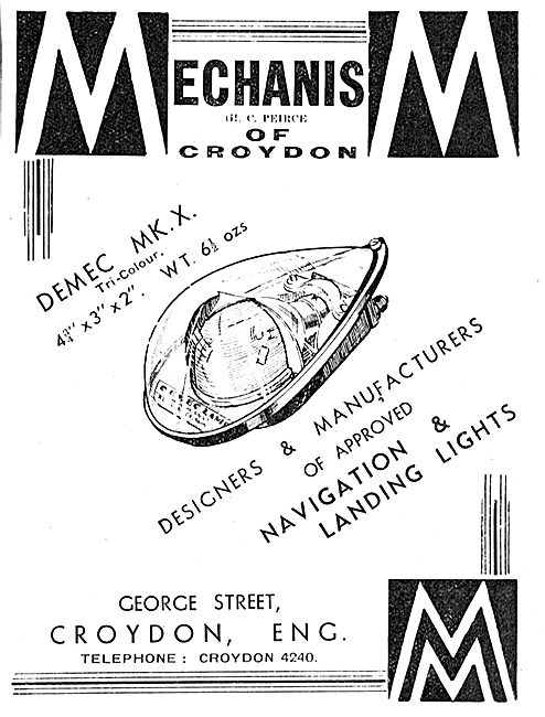 Mechanism Navigation & Landing Lights