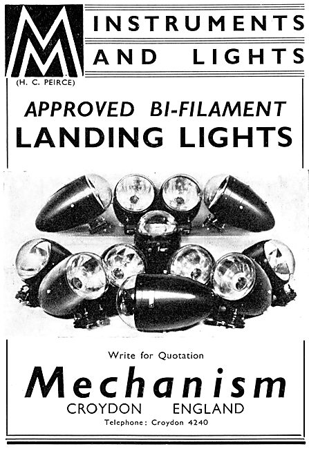Mechanism Ltd. Aircraft Instruments & Lighting 1937