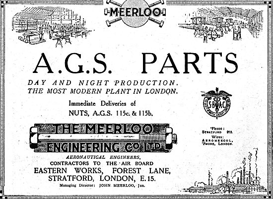 The Meerloo Engineering Co Ltd. Forest lane Stratford E15