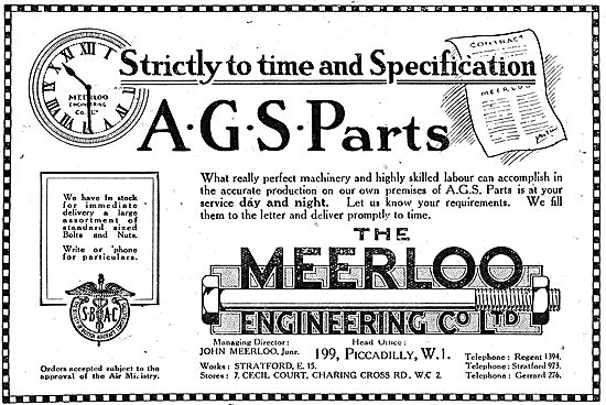 The Meerloo Engineering Co Ltd: On Time, On Spec AGS Parts