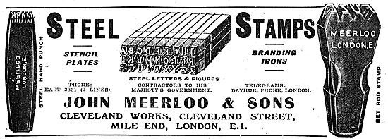 Meerloo Steel Stamps, Stencil Plates & Branding Irons