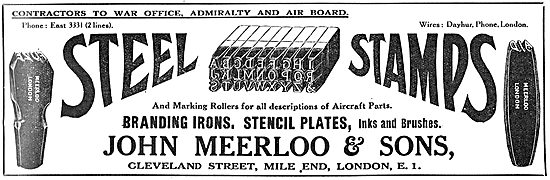 John Meerloo & Sons. Steel Stamps, Branding Irons, Inks & Brushes