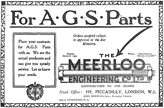 The Meerloo Engineering Co  AGS Parts
