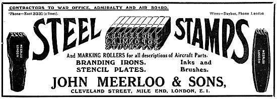 John Meerloo & Sons. Steel Stamps, Marking Rollers & Stencils