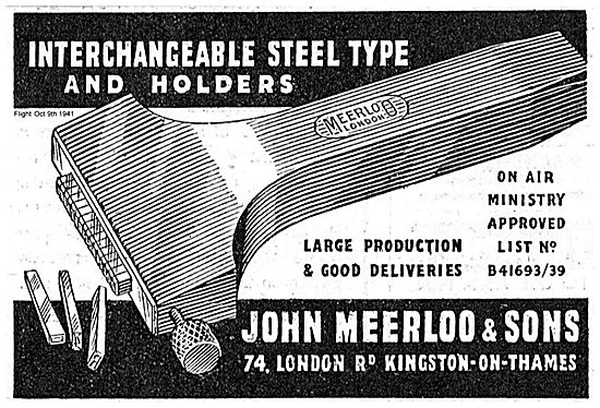 Meerloo Interchangeable Steel Type And Holders.