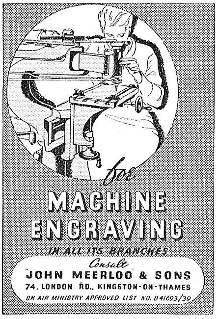 John Meerloo & Sons Engraving