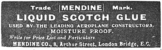Mendine Liquid Scotch Glue 1917 Advert