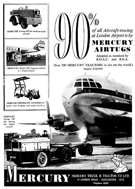 Mercury Airtug 65P - Mercury 10F Baggage Tractor - Loader