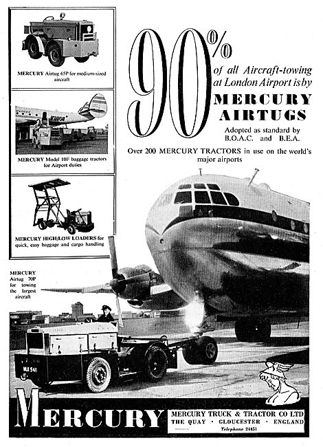 Mercury Airtugs - Aircraft Tugs & Model 10F Baggage Tractor