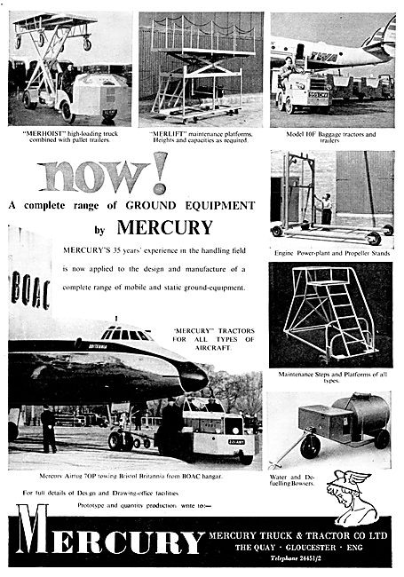 Mercury Aircraft Tugs & Tractors & Ground Support Equipment