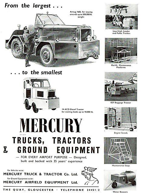 Mercury Airtug 160L. Mercury 14 ACD Diesel Tractor