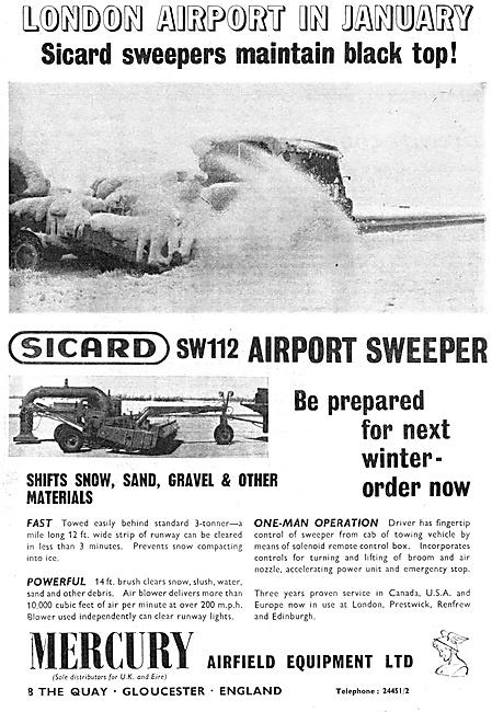 Mercury Airfeild Equipment . SICARD SW112 Snow Sweeper