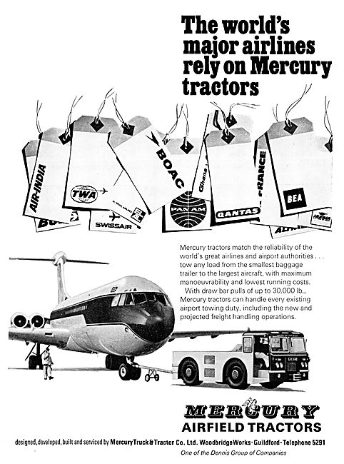 Mercury Aircraft Tugs & Tractors 1967