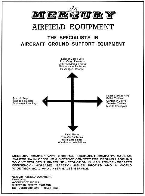 Mercury Aircraft Ground Support Equipment