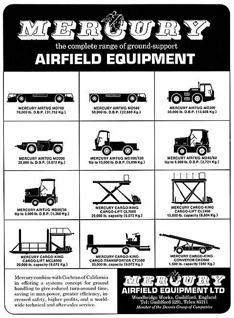 Mercury Aircraft Ground Support Equipment. Mercury Tugs