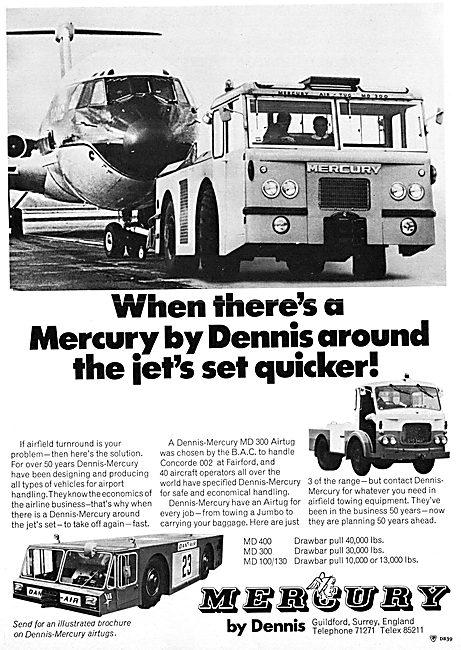 Dennis-Mercury Aircraft Tugs 1970
