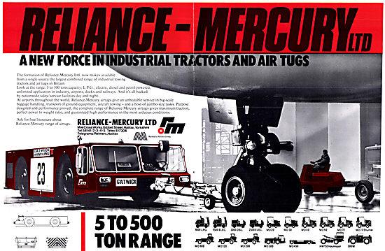 The 1972 Reliance-Mercury Aircraft Tugs & Tractors Range