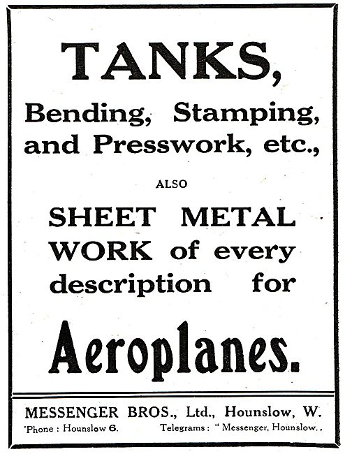 Messenger Bros Ltd. - Sheet Metal Work, Stamping, Presswork