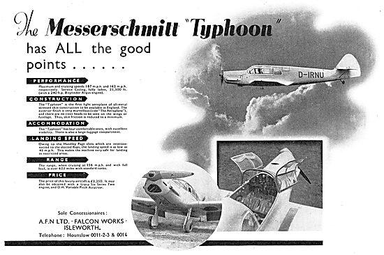Messerschmitt ME108 Typhoon : D-IRNU