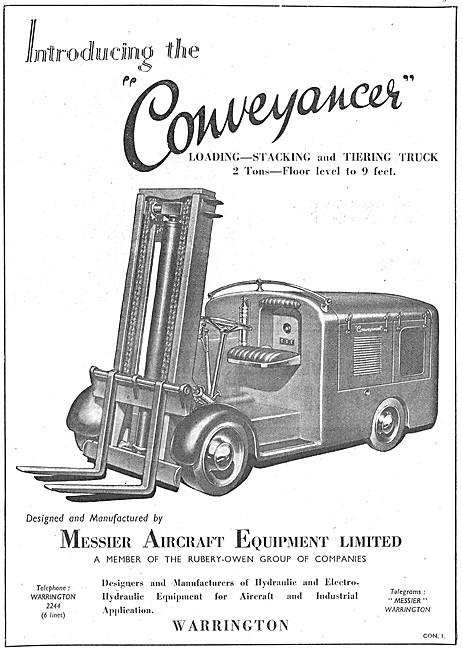 Messier Conveyancer Fork Lift Truck