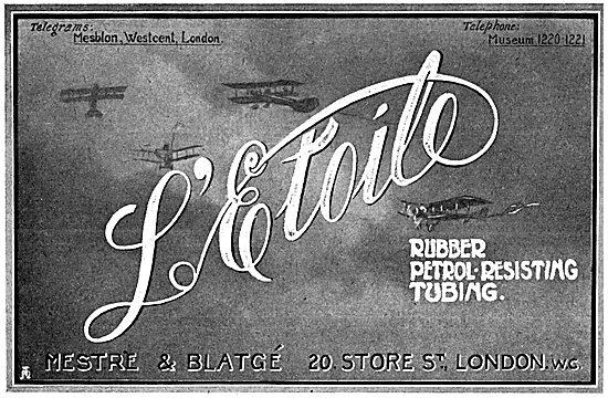 Mestre & Blatge L'Etoile Petrol Resistant Tubing 1916