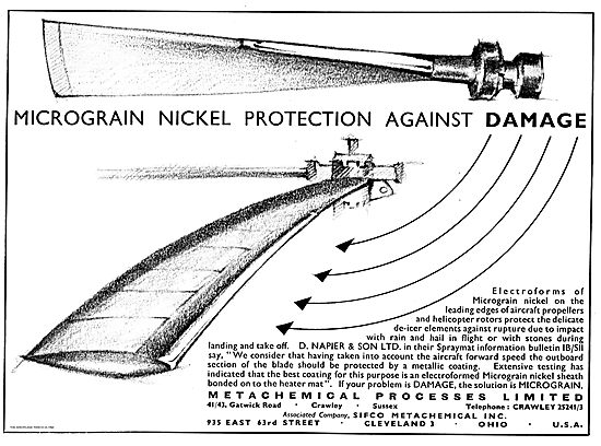Metachemical Micrograin Nickel Protection For Propellers