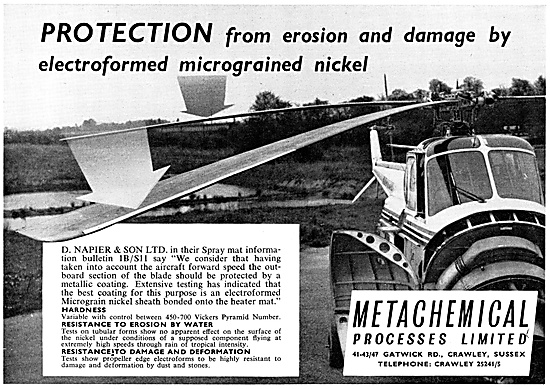 Metachemical Helicopter Rotor Balde Protection