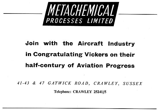 Metachemical Congratulates Vickers On Their Golden Jubilee