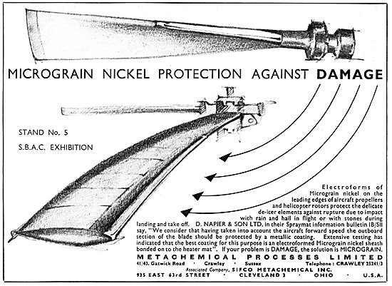 Metachemical Micrograin Nickel Helicopter Blade Protecttion