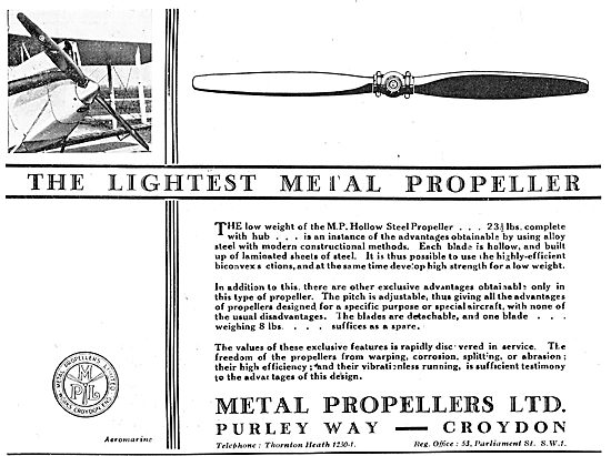MP Metal Propellers - The Lightest Metal Propeller