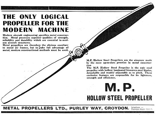 MP Metal Propellers - The Logical Choice For Modern Aircraft
