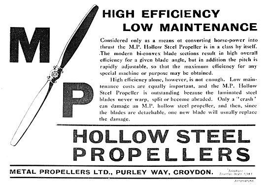 MP Metal Propellers - High Efficiency - Low Maintenance